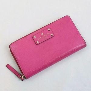 Kate Spade Wellesley Nevada Zip Around Pink Wallet